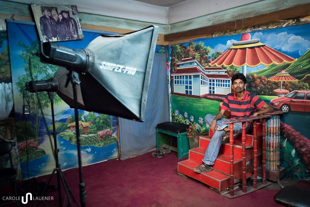 Helal im Studio, wo er seine bekannteste Arbeit (Love Studio) aufgenommen hat.