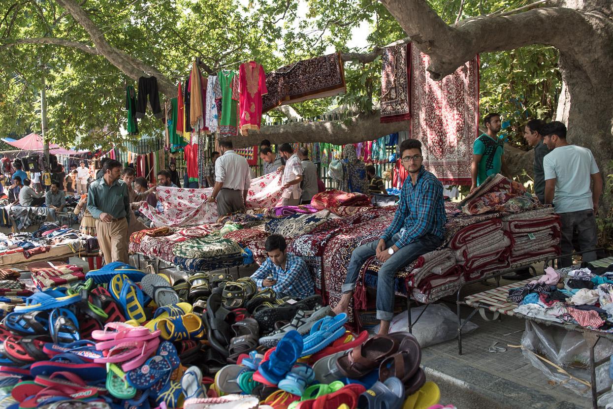 Market in srinagar kashmir
