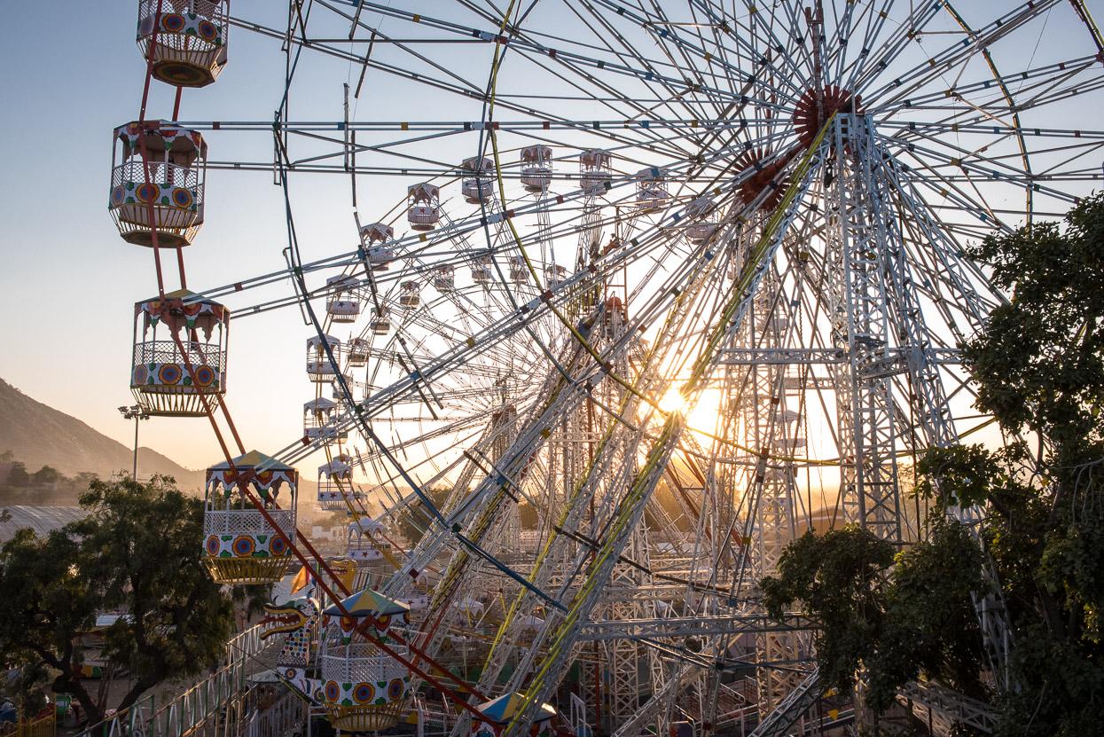 ferris wheel at pushkar Camel fair