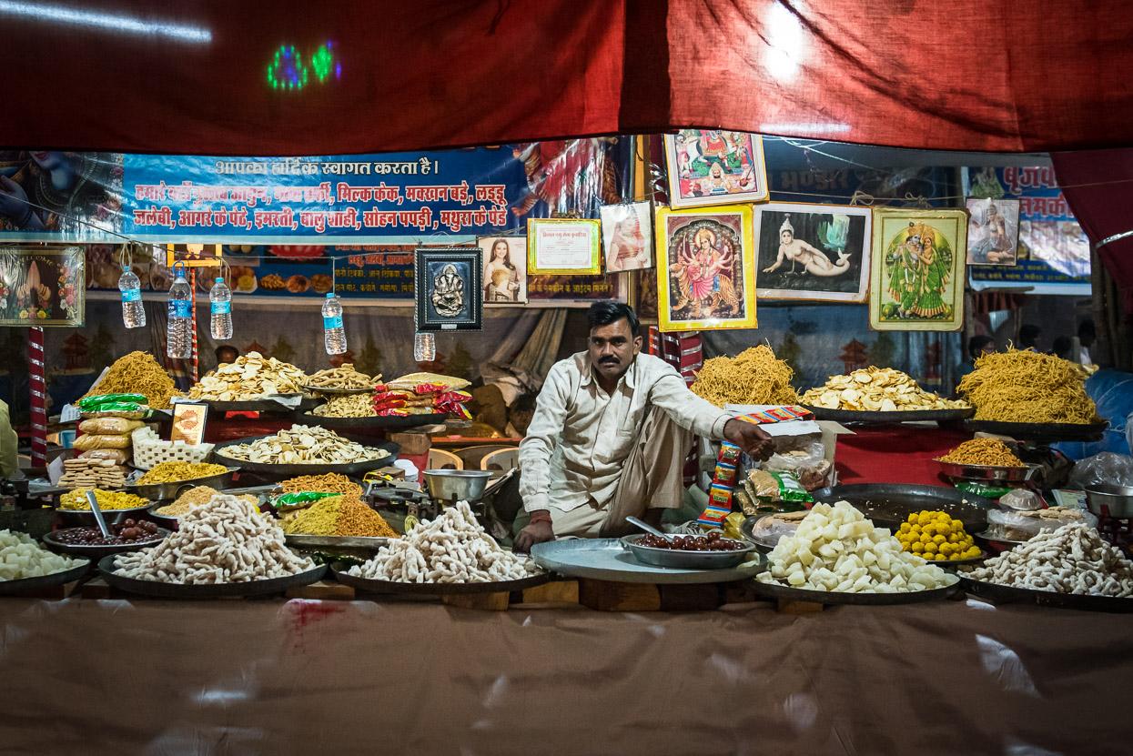 Sweet shop at pushkar camel fair