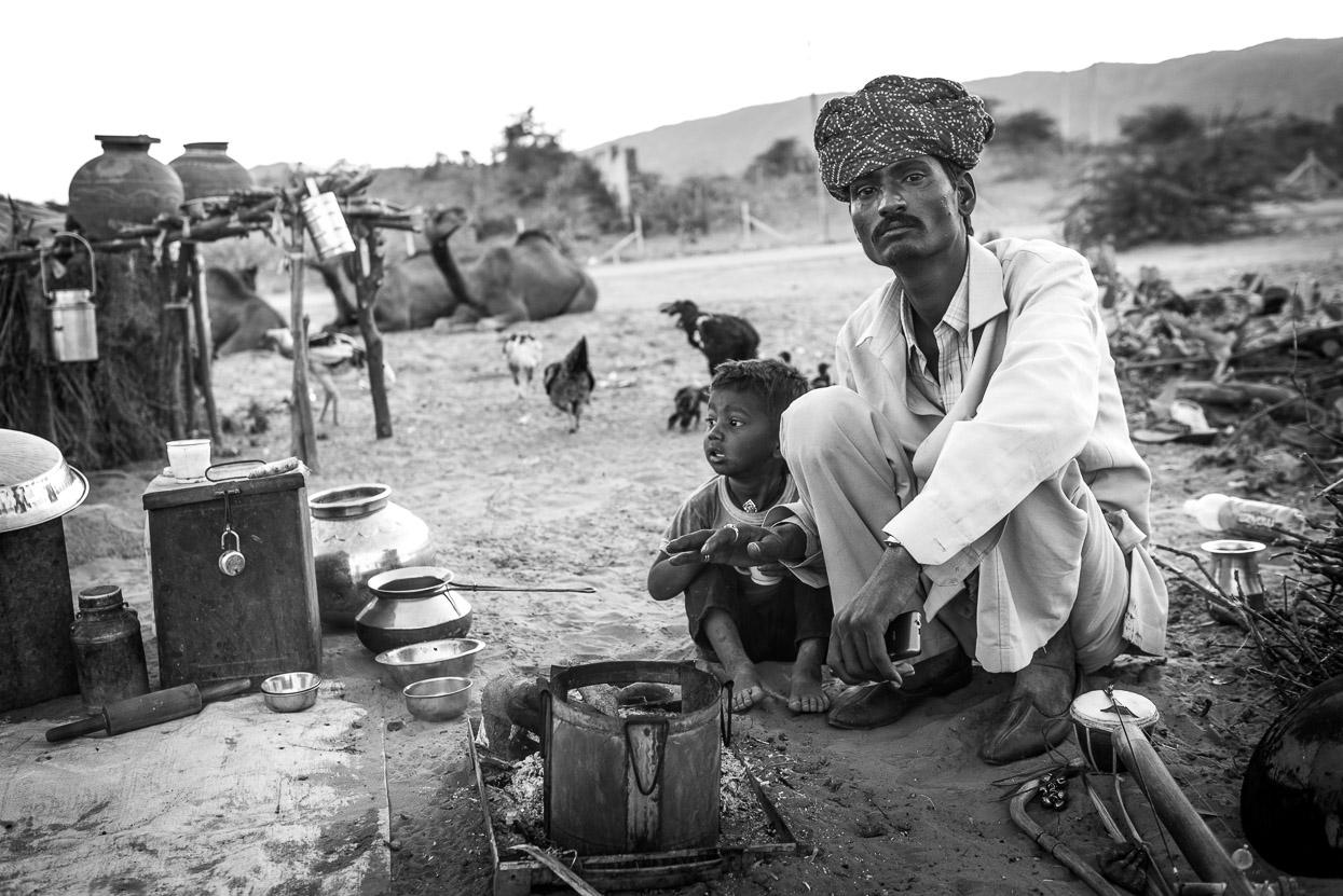 pushkar camel fair father and son