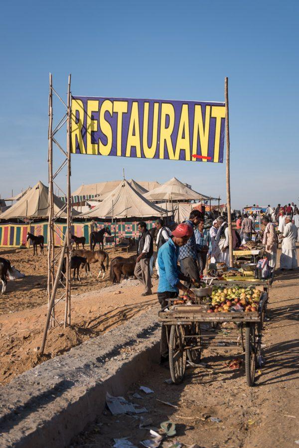 restaurant at pushkar camel fair