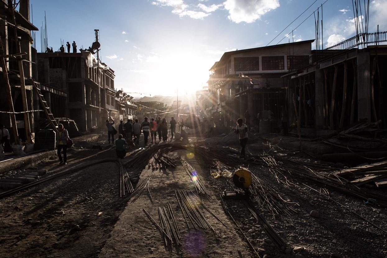 Construction site in leh ladakh