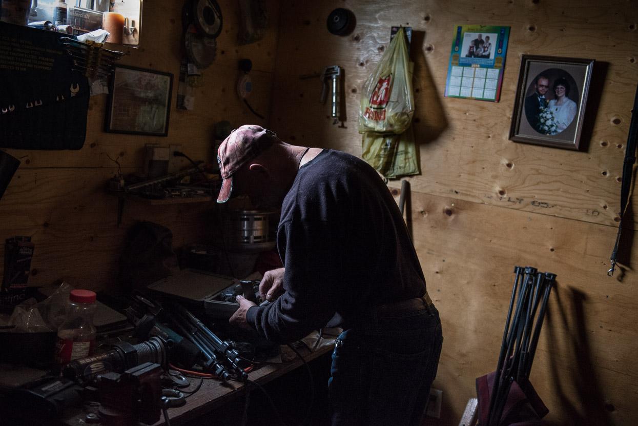 Dough Martens in his workshop