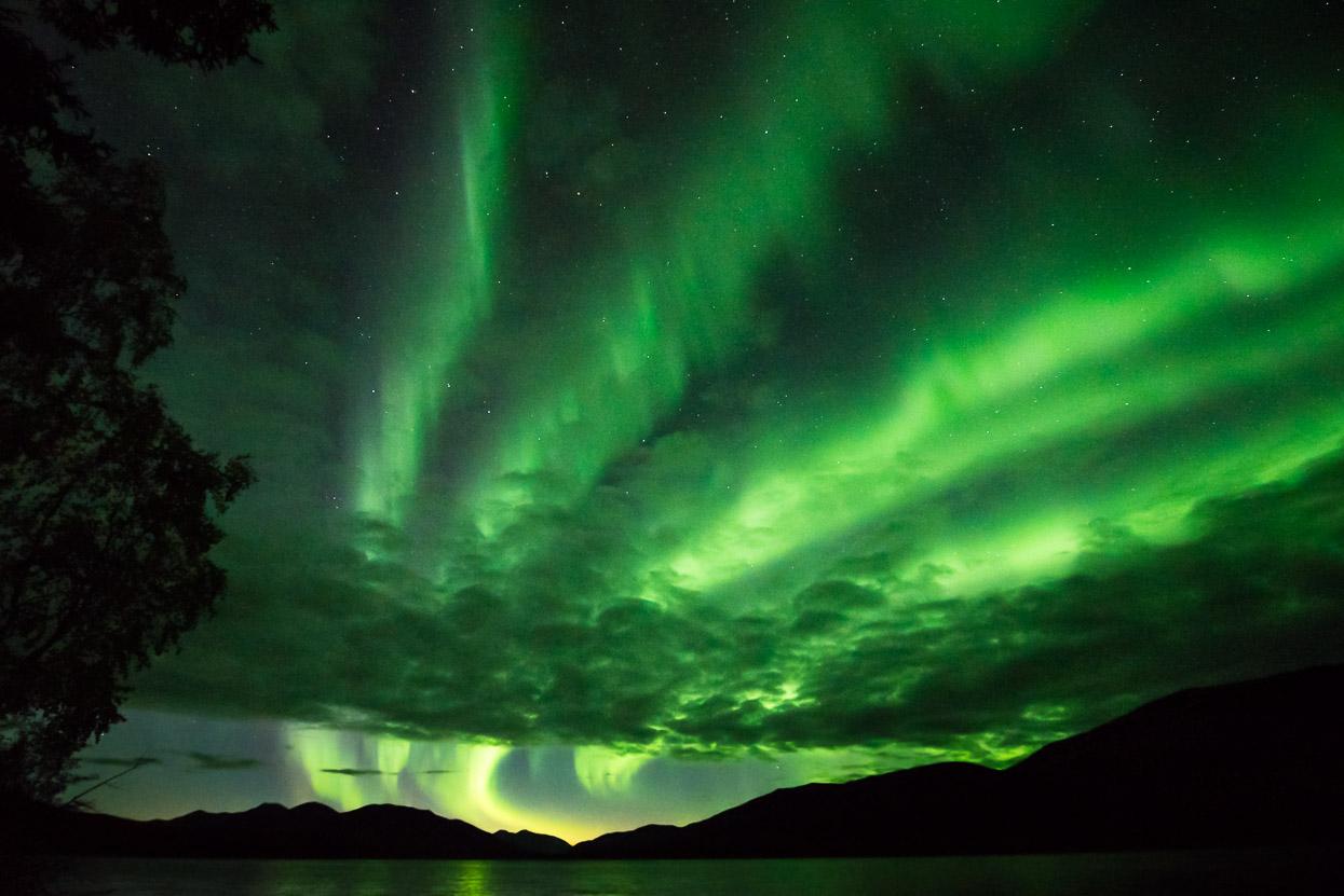 Northern Lights Big Salmon Lake, Yukon