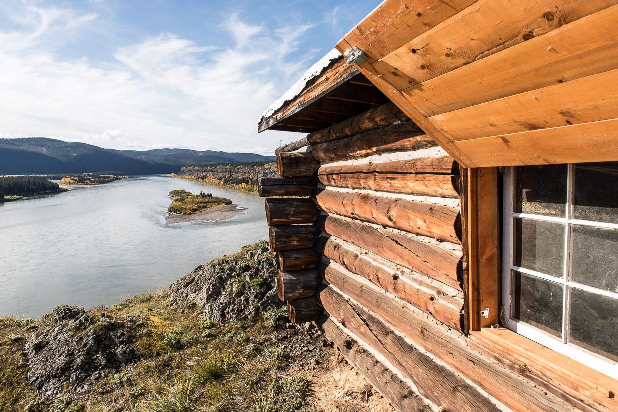 Cabin above Yukon River