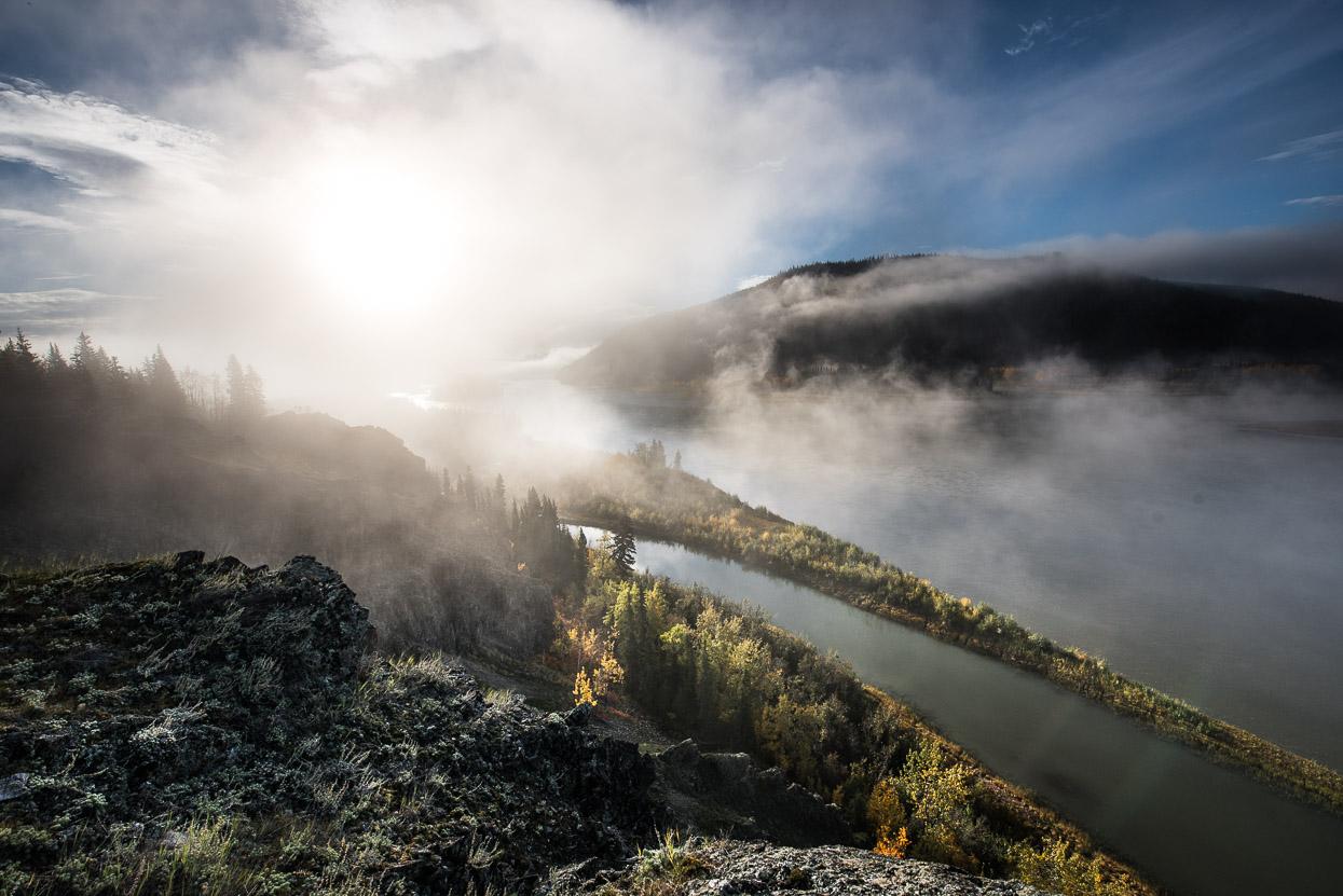 Morning fog over Yukon River